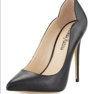 Norman Marcus Kala Black Leather Heels 6.5